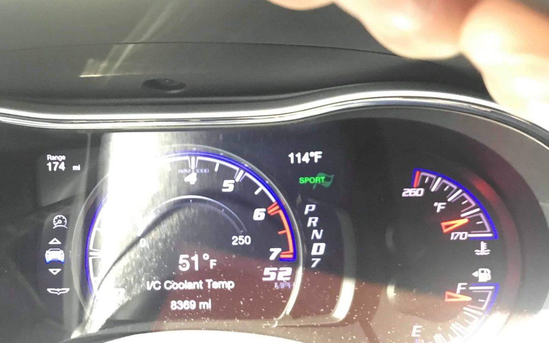 114f outside air temp, Jeep Trackhawk Interchiller